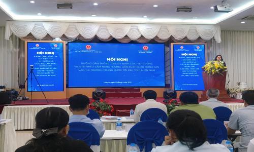 Hội nghị hướng dẫn thông tin quy định của thị trường và giới thiệu cẩm nang hướng dẫn xuất khẩu nông sản vào thị trường Trung Quốc tới các tỉnh miền Nam