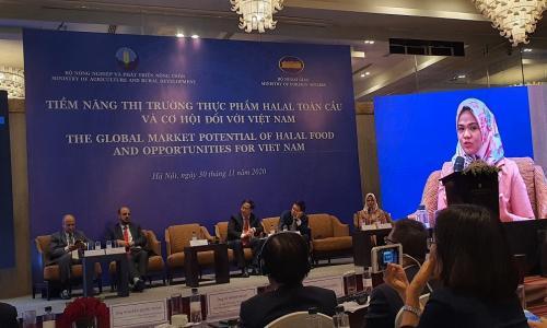 Tổ chức NHO tại Hội nghị Halal do Bộ NN&PTNT phối hợp Bộ Ngoại giao tổ chức